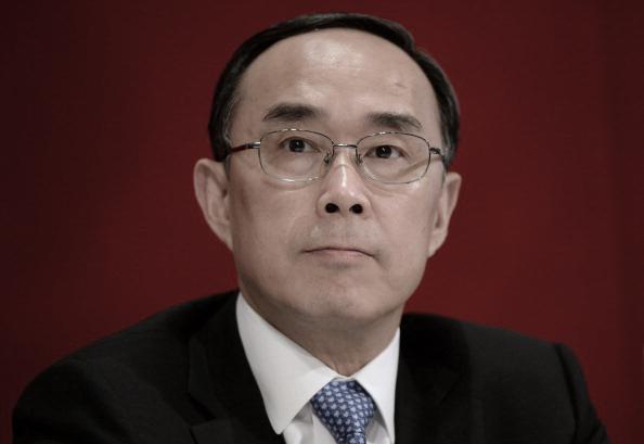 Chang Xiaobing en una conferencia de prensa de 2013. (DALE de la REY/AFP/Getty Images)