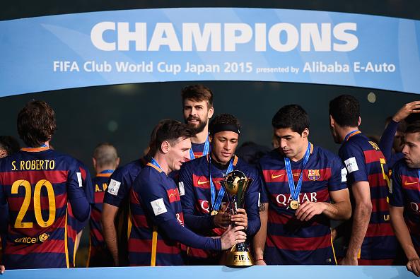 Barcelona triunfa frente a River Plate por 3-0 en Yokohama, Japón, 20 de diciembre de 2015. Mike Hewitt - FIFA/FIFA via Getty Images