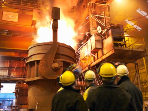 Industria del acero. (Ian Forsyth/Getty Images)