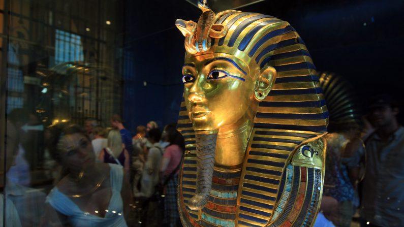 Terminada la restauración de la máscara de Tutankamón. (KHALED DESOUKI/AFP/GettyImages)