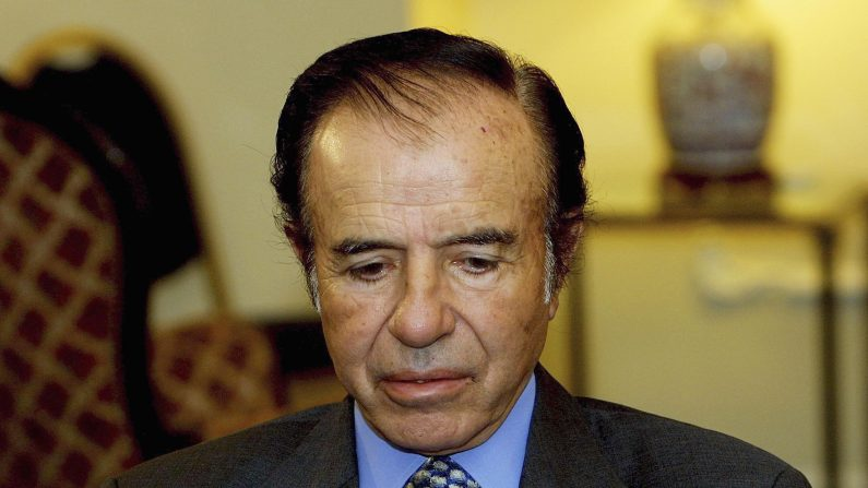 Expresidente argentino Carlos Menem (Foto: Quique Kierszenbaum/Getty Images)