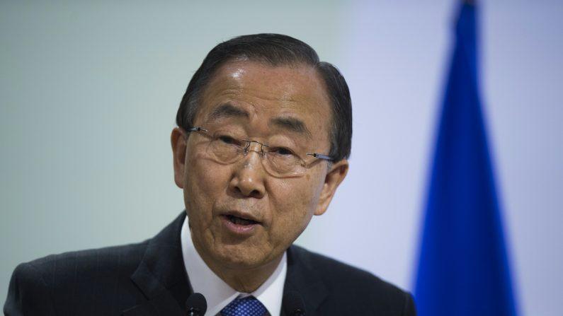 Secretario General de las Naciones Unidas, Ban Ki-moon.  (MARTIN BUREAU/AFP/Getty Images)