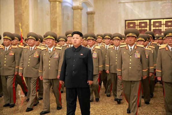 El líder coreano Kim Jong-un en el 62º aniversario del Armisticio. Foto: Xinhua News Agency// Getty Images