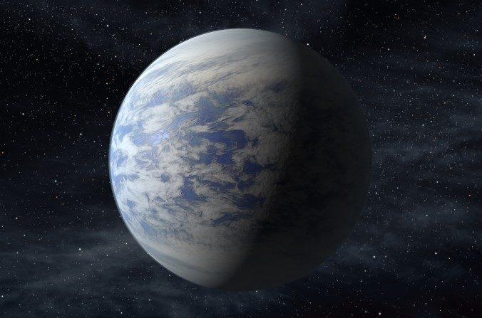 La Interpretación de este artista proporcionada por la NASA muestra a Kepler - 69c, un planeta del tamaño de una super tierra en la zona habitable de una estrella como nuestro sol, situado cerca de 2.700 años luz de la tierra en la constelación Cisne. (NASA)