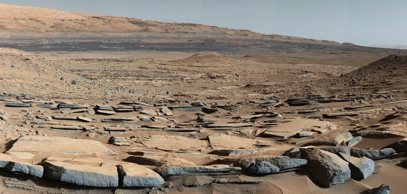 Imagen de la superficie marciana tomada por el robot Curiosity. / NASA/JPL-Caltech/MSSS.