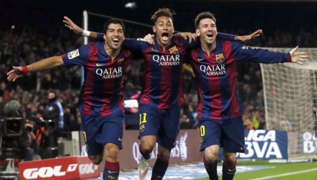 Luis Suárez, Neymar y Messi del Barcelona FC. (nuevodiarioweb.)