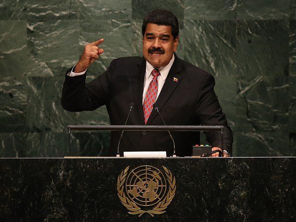 Nicolás Maduro, Mandatario de Venezuela, se dirige la Asamblea General de las Naciones Unidas en la sede de la ONU en el 2015 en la ciudad de Nueva York. (Foto por John Moore/Getty Images)