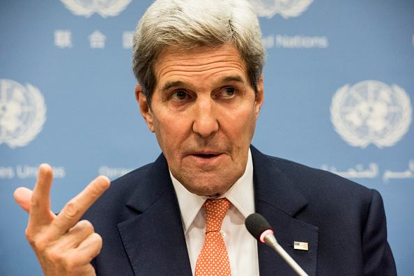 Secretario de estado John Kerry. (Foto por Andrew Renneisen/Getty Images)