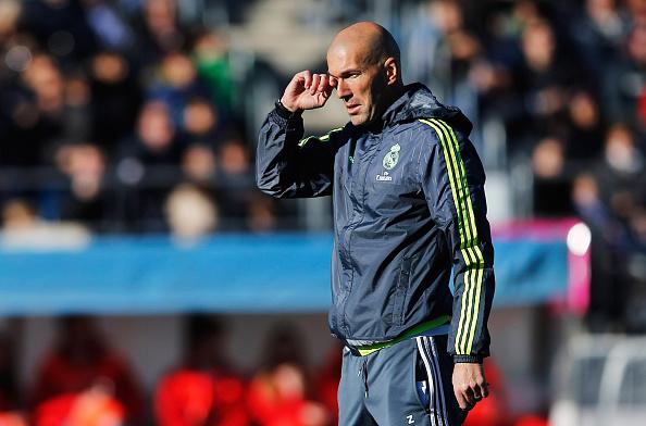 Zinedine Zidane, Director Técnico del Real Madrid. (Gonzalo Arroyo Moreno/Getty Images)