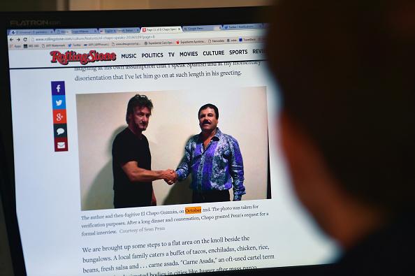 """¿Gobierno de Maduro facilitó encuentro entre Sean Penn y """"El Chapo"""" Guzmán? (ALFREDO ESTRELLA/AFP/Getty Images)"""