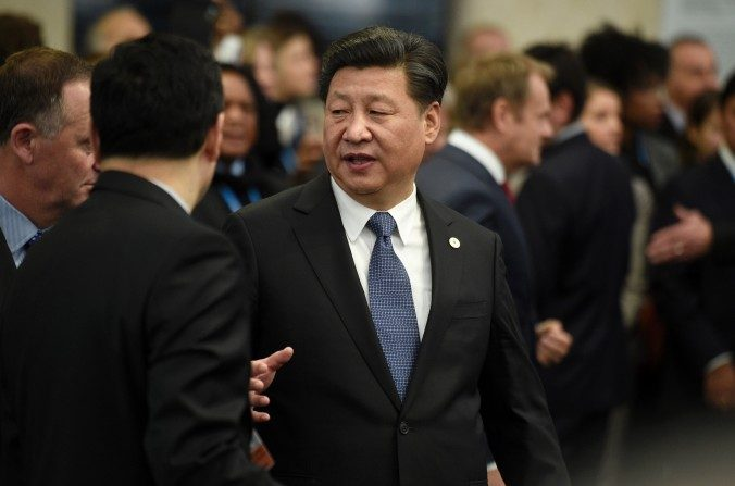 El líder chino Xi Jinping, en Le Bourget, en las afueras de París, el 30 de noviembre del 2015. (Martin Bureau / AFP / Getty Images)