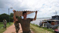 Crean una ciudad paralela para refugiados por las inundaciones en Paraguay