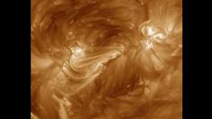 Impresionante cascada de arcos magnéticos es captada por la NASA (video)