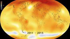 La NASA muestra en 30 segundos el ascenso de las temperaturas en la Tierra