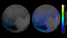 NASA confirma que la superficie de Plutón está llena de agua congelada