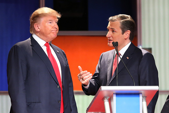 Donald Trump y Ted Cruz (Photo by Scott Olson/Getty Images)