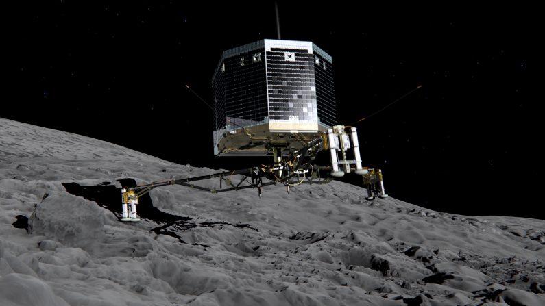 El difícil adiós a Philae.  (Photo ESA via Getty Images)