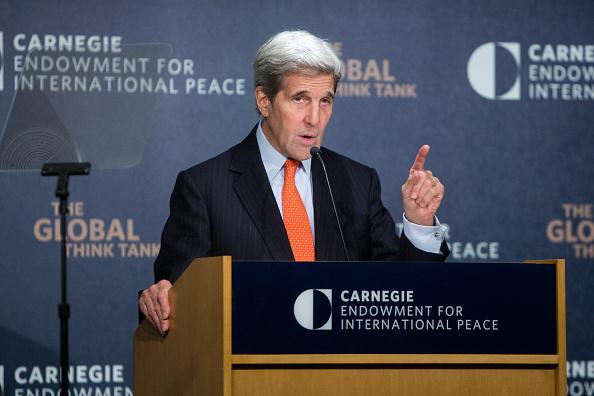 """Kerry denuncia un incremento de la """"militarización"""" china en islas en disputa. (Foto: Allison Shelley/Getty Images)"""