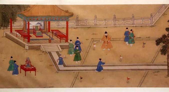 El emperador de la Dinastía Ming Xuande, jugando Chuiwan. (Shang Xi , pintor de la corte imperial china en el siglo XV /dominio público/WikimediaCommons)