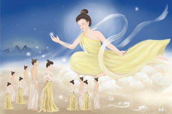Según la sabiduía china, la Diosa Nü Wa creó seres humanos. También les impartió sabiduría y sentó las bases para que desarrollen la cultura humana de manera que puedan proceder a mejorar sus vidas. (SM Yang/La Gran Época)
