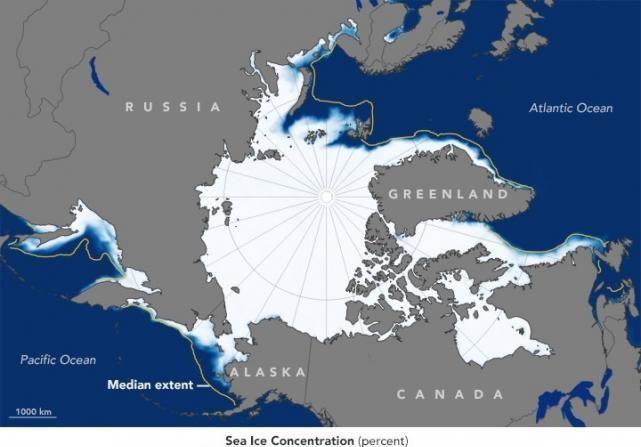 La NASA confirma que el Océano Ártico se hiela menos este invierno