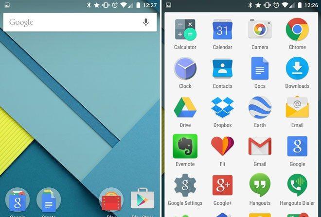 Acceso directo a las aplicaciones en Android 5.1 Lollipop