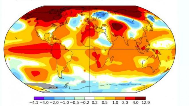 El Instituto GISS de la Nasa ha revelado la temperatura de enero de los últimos años.(Foto: GISS/NASA)