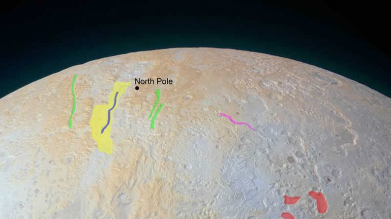 Polo Norte de Plutón. (NASA/JPL-Caltech)