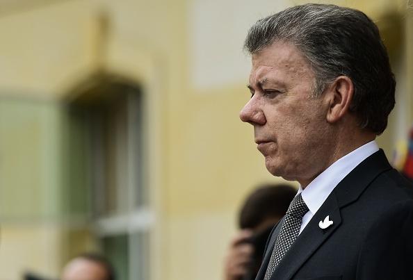 El presidente colombiano Juan Manuel Santos. (LUIS ACOSTA/AFP/Getty Images)