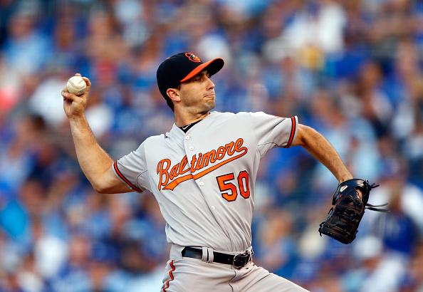 Miguel González #50 de los Orioles de Baltimore. (Foto por Jamie Squire/Getty Images)