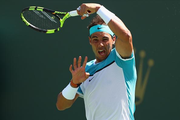 Rafael Nadal de España en acción. (Foto por Julian Finney/Getty Images)