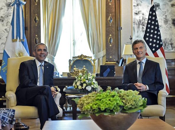 Conferencia de prensa del presidente de EE. UU., Barack Obama y el presidente de Argentina, Mauricio Macri. (NICHOLAS KAMM/AFP/Getty Images)