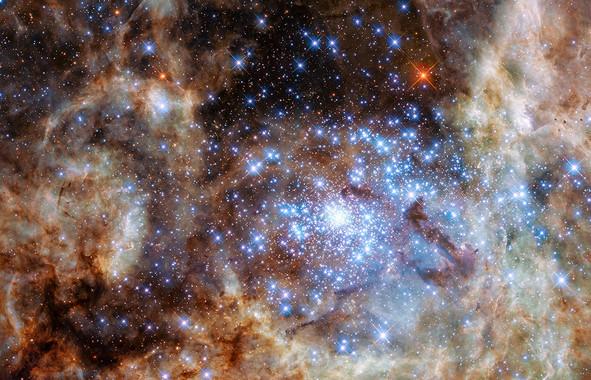 El cúmulo estelar R136 observado con WFC3 / NASA, ESA, P. Crowther (University of Sheffield)