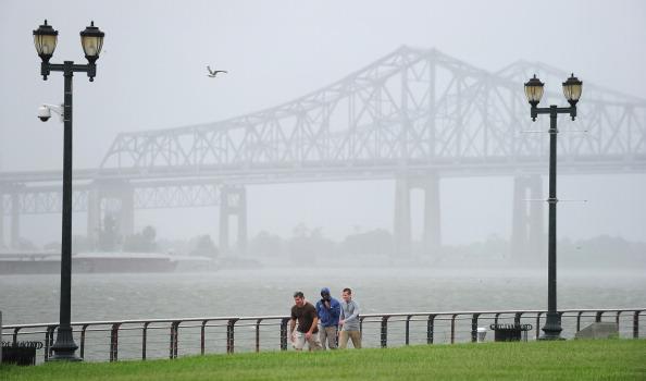 En el suroeste de Louisiana cayeron entre 25 y 30 centímetros de lluvia que ocasionaron inundaciones repentinas. (Foto: FREDERIC J. BROWN/AFP/GettyImages)