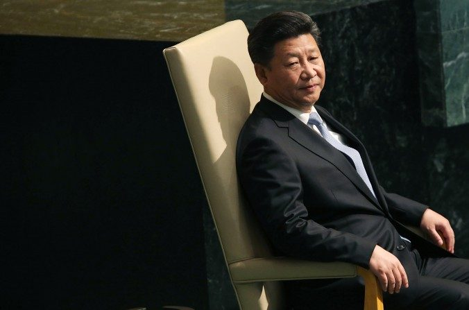 El líder chino, Xi Jinping, antes de entregar un discurso en la Asamblea General de las Naciones Unidas en la sede de las U.N. en Nueva York el 28 de septiembre de 2015. (Spencer Platt / Getty Images)