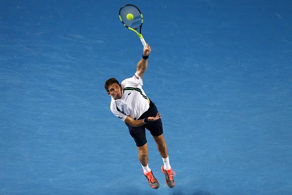 Federico Delbonis, uno de los tres argentinos que avanzarona la segunda ronda en Indian Wells. (Foto por Cameron Spencer/Getty Images)
