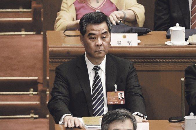 Leung Chun-ying asiste a la ceremonia de apertura del Congreso Nacional del Pueblo en el Gran Palacio del Pueblo en Beijing el 5 de marzo de 2016. (Wang Zhao / AFP / Getty Images)