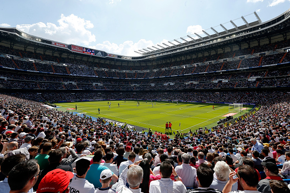 Una vista general durante La Liga partido entre Real Madrid CF y el Eibar en el Estadio Santiago Bernabeu en Madrid, España. (Foto por Victor Carretero/Real Madrid via Getty Images)
