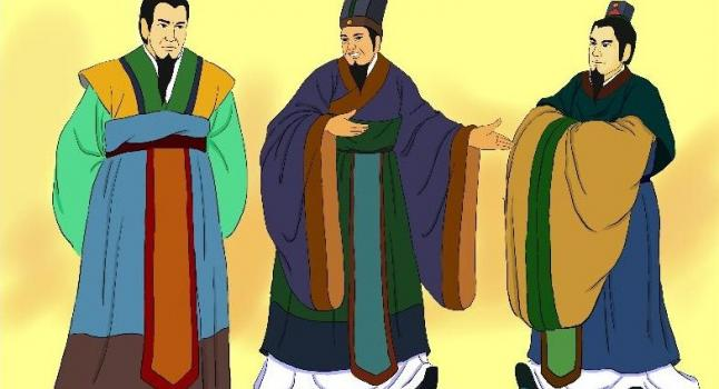 Bao Shuya recomienda a Guan Zhong para ser Primer Ministro. (Ilustrado por Zhiching Chen/La Gran Época)