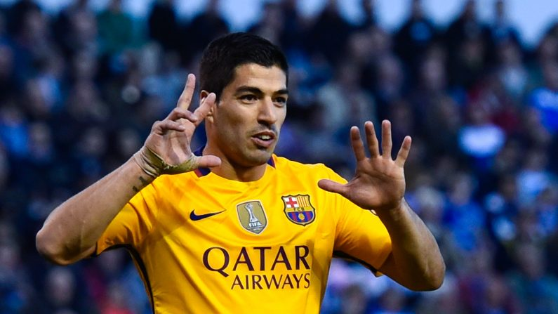 El delantero uruguayo Luis Suárez en su actual club, FC Barcelona. (David Ramos / Getty Images)