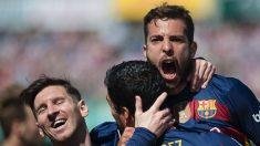 Messi y Mascherano, campeones de la Liga Española con Barcelona