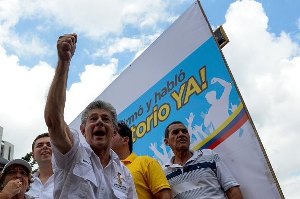 Henry Ramos Allup. Jefe de seguridad del presidente de la Asamblea Nacional venezolana (Imagen: FEDERICO PARRA/AFP/Getty Images)