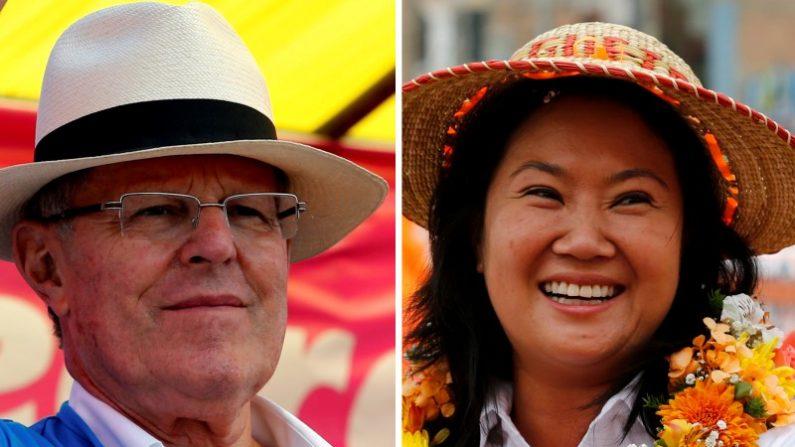 Imagen que combina fotografías de los candidatos a la presidencia de Perú (de izquierda a derecha) Pedro Pablo Kuczynski y Keiko Fujimori. REUTERS/Mariana Bazo