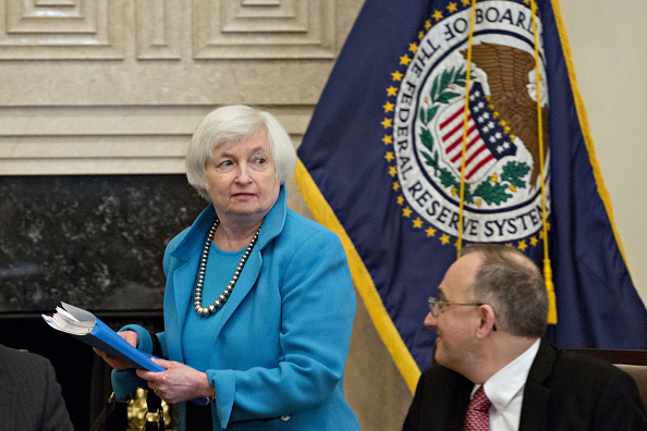 Janet Yellen, Presidente de la Reserva Federal de Estados Unidos. (Andrew Harrer/Bloomberg a través de Getty Images)