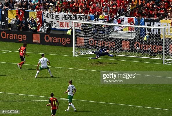 Euro 2016 Grupo E partido entre Bélgica y República de Irlanda en el Nouveau Stade de Bordeaux en Burdeos, Francia. (Foto por Ray McManus/Sportsfile via Getty Images)