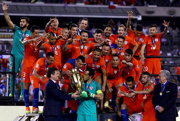 Chile celebra su segunda victoria ante la Argentina de Messi en la Copa América 2016. (Getty Images/Creative)