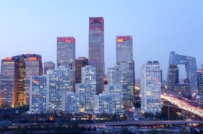 Distrito central de negocios de Beijing el 27 de Nov., 2013. (Wang Zhao/AFP/Getty Images)