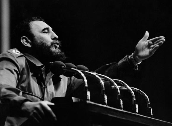 El dictador cubano Fidel Castro en la década de 1970 en La Habana. (OFF/AFP/Getty Images)