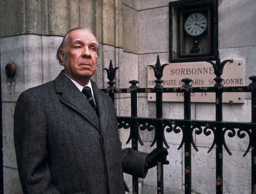 Jorge Luis Borges en Paris, Francia, 1978. Foto: Daniel Simon//Getty Images