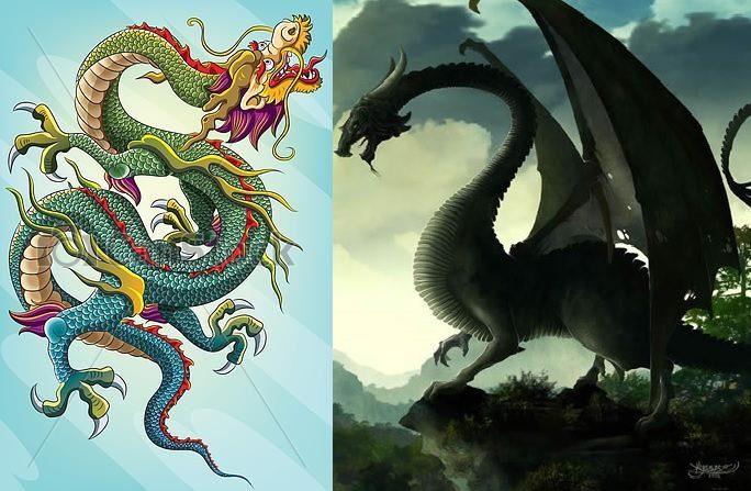 Diferencias Entre Los Dragones De Oriente Y Occidente Arte